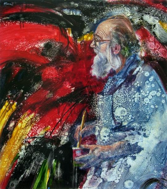 Portrait of Emilio Vedova, by Mimmo Alfarone image