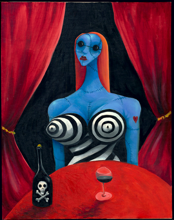 Blue Girl with Wine. c. 1997.  image