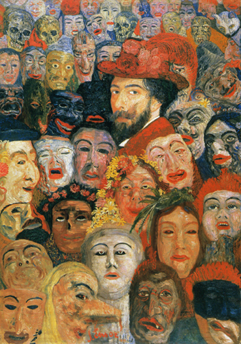 Self-Portrait with Masks. 1899 image