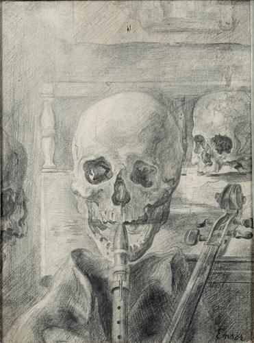 Skeleton Musicians. 1888 image