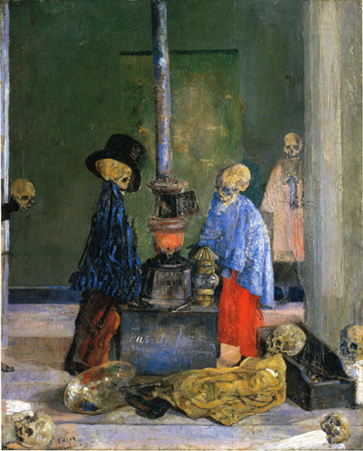 Skeletons Trying to Warm Themselves. 1889 image