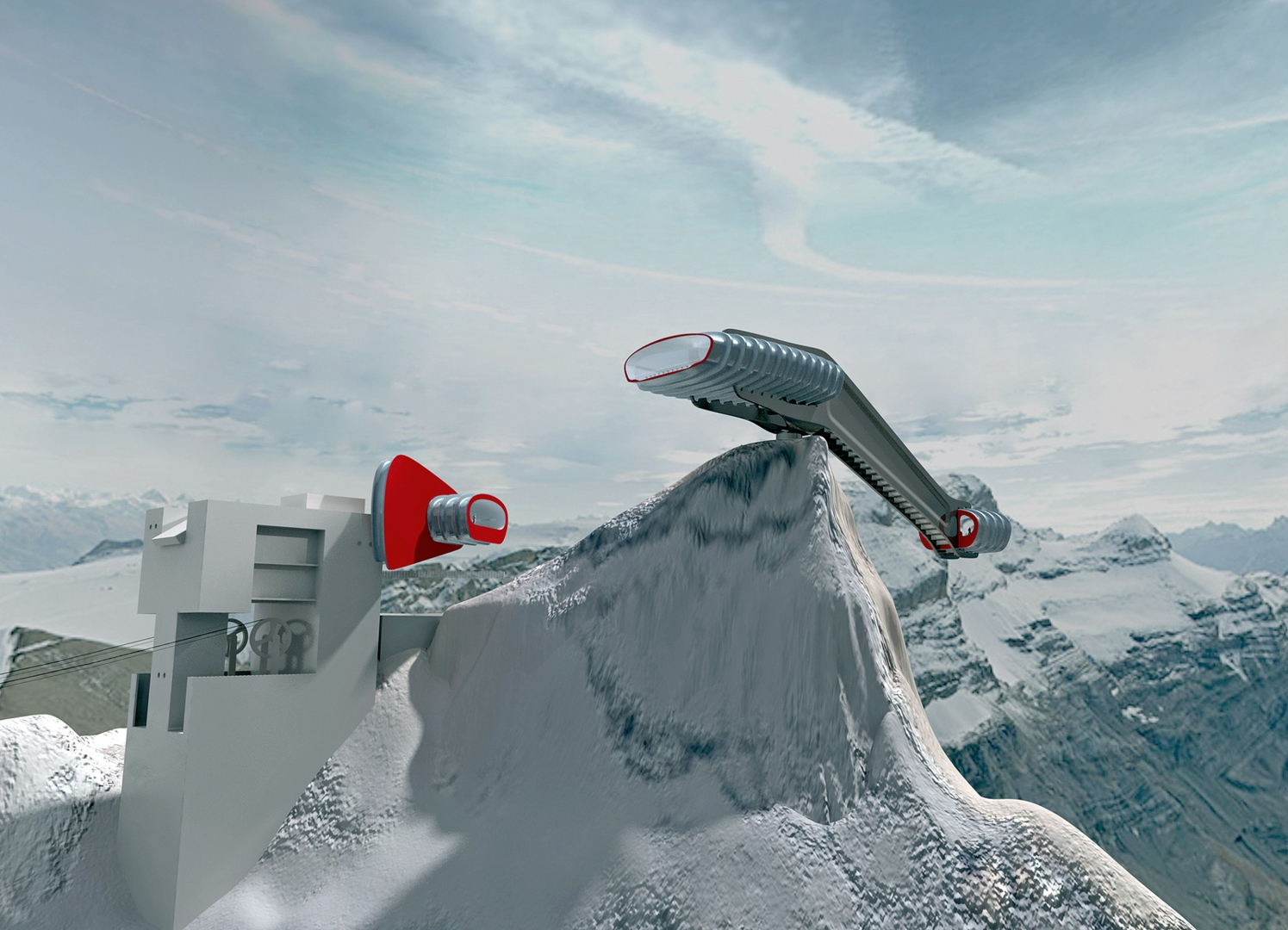 Panoramic Restaurant at Les Diablerets, Gstaad. Project. Video. 2007 image