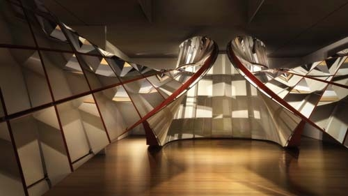 Rendering of the installation of Ron Arad: No Discipline at The Museum of Modern Art featuring Cage  image
