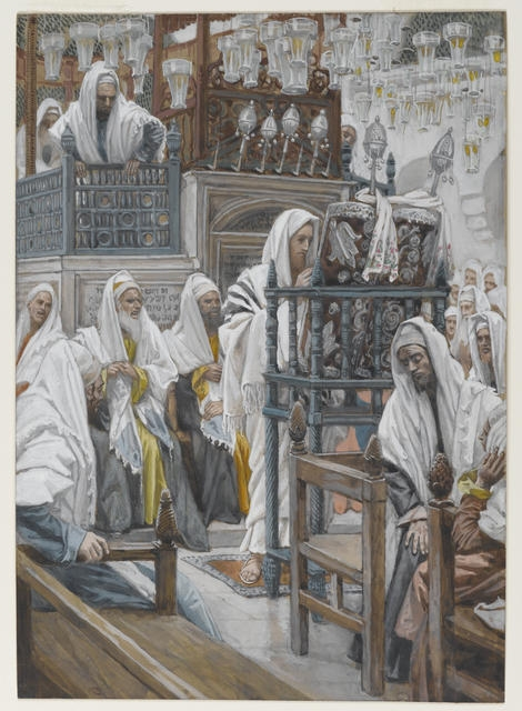 Jesus Unrolls the Book in the Synagogue, 1886-94 image