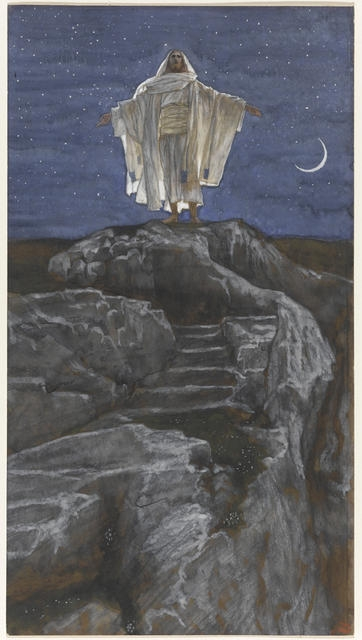 Jesus Goes Up Alone onto a Mountain to Pray, 1886-94 image