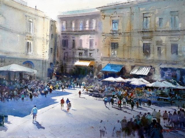 Gathering Crowds Amalfi image