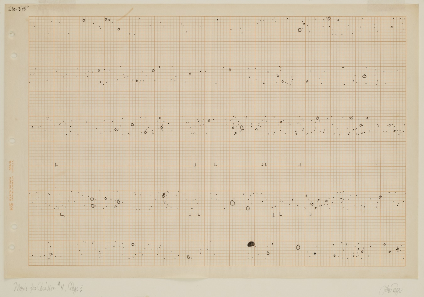 Music for Carillon, # 4, Page 3 - 1961 image