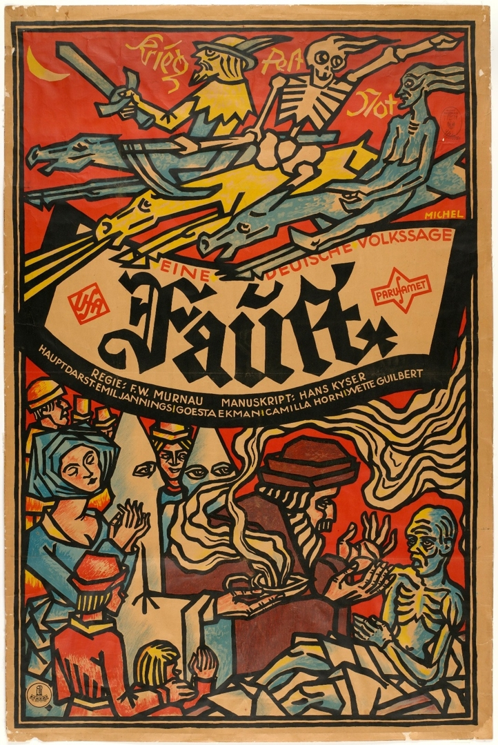 Poster for Faust. 1926. image