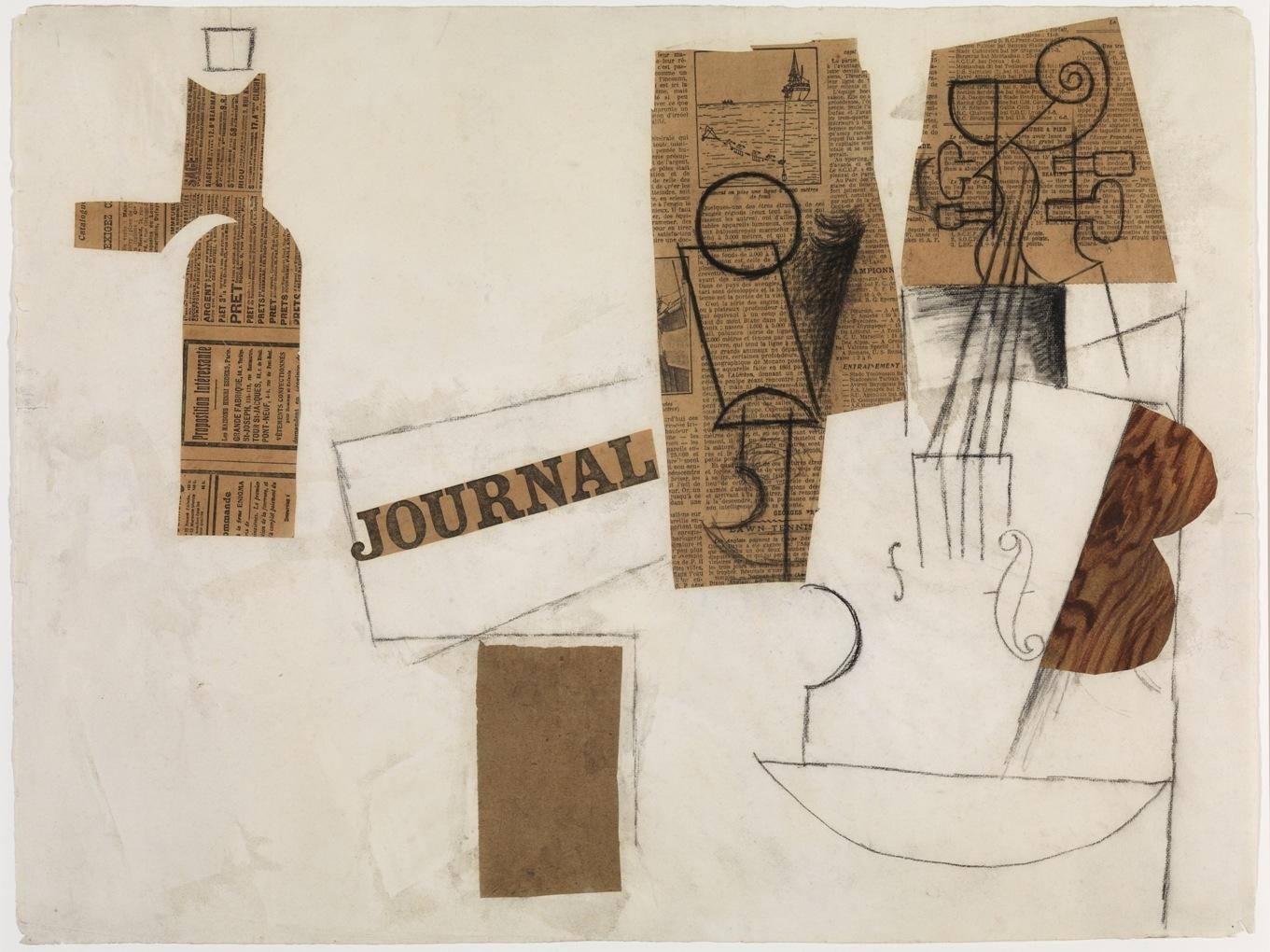 Siphon, Glass, Newspaper, and Violin. Paris image