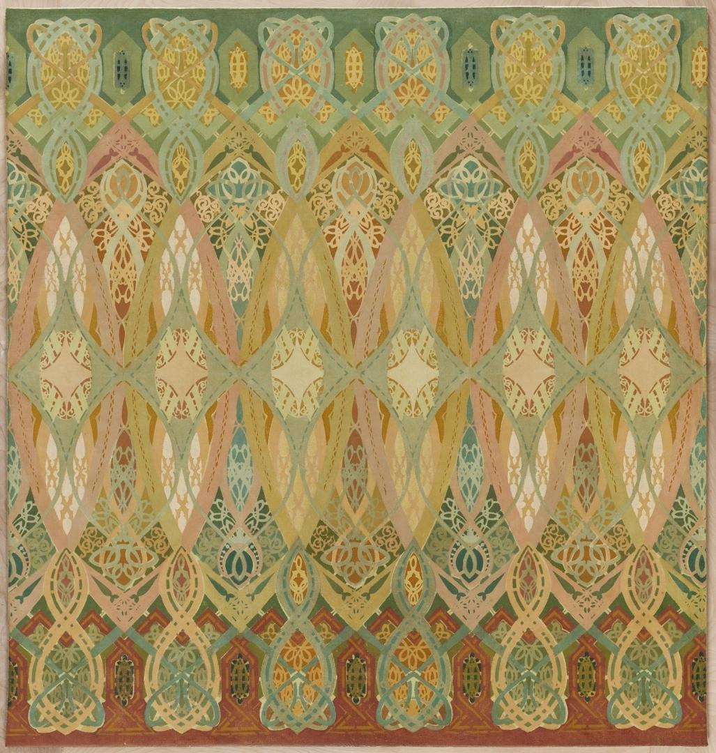 Stenciled Frieze Panel image