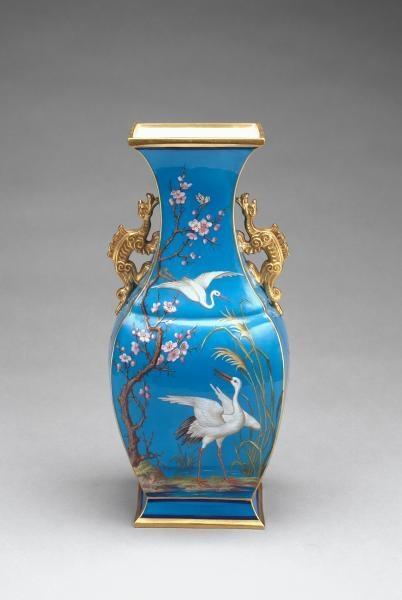MINTON, Stoke-on-Trent, Staffordshire (manufacturer), Aaron GREEN (decorator) Vase 1870 image