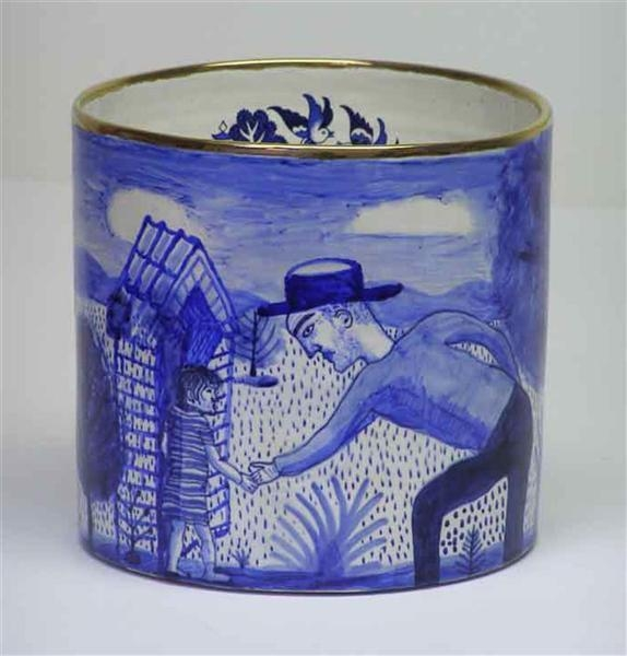 Blue and White pot   image