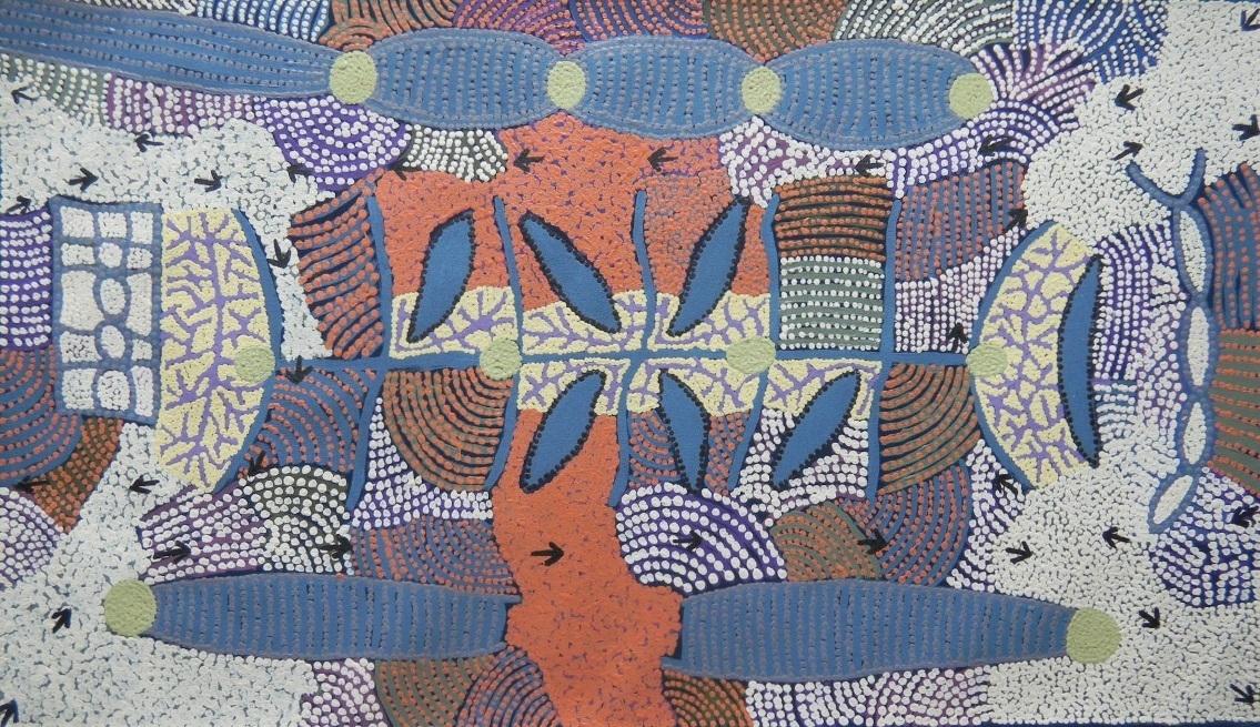 Kapi Tjukurrpa (Water Dreaming), 2010 image