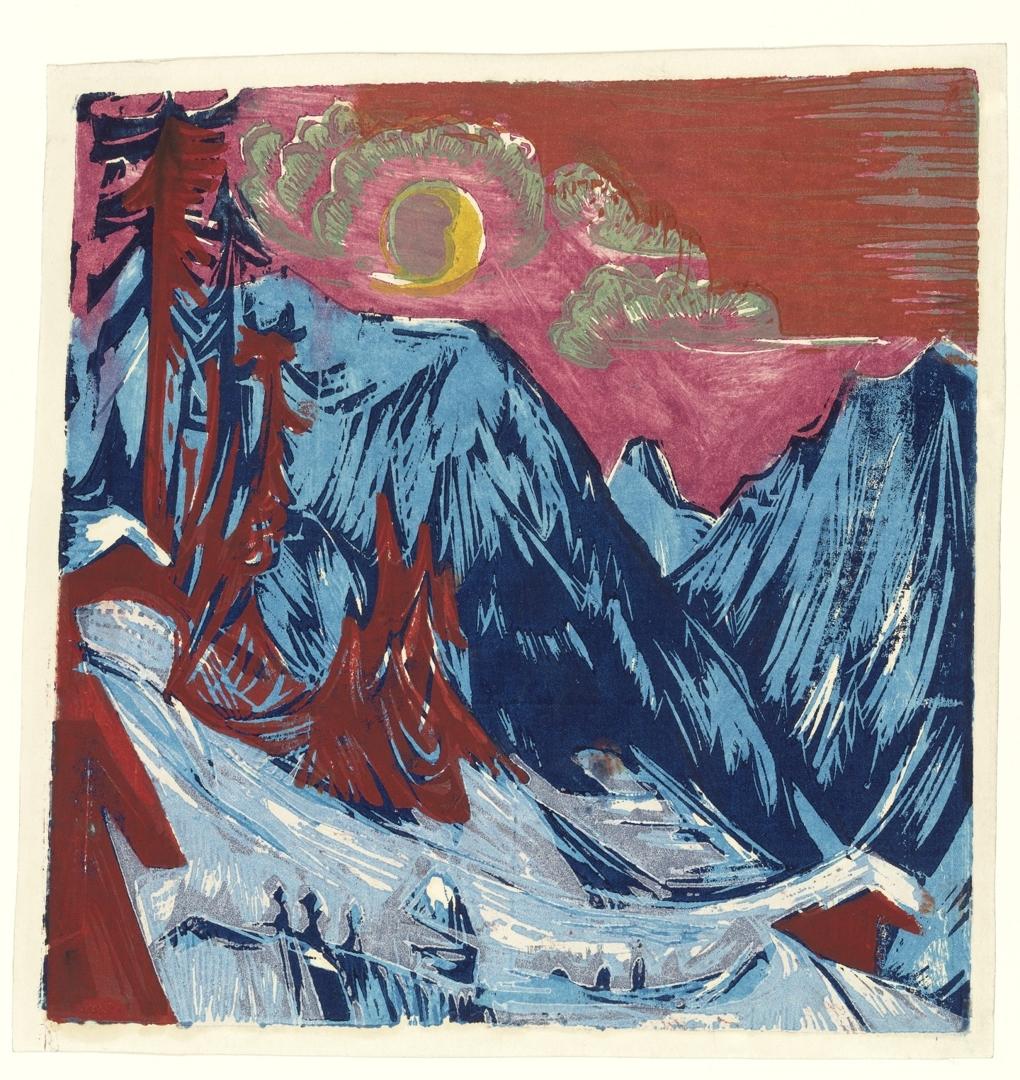 Winter Moonlit Night (Wintermondnacht).  1919 image
