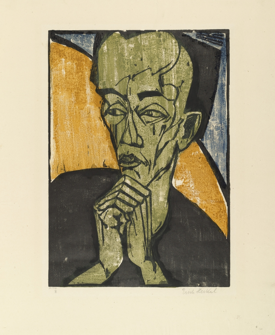Portrait of a Man (Männerbildnis). 1919 image