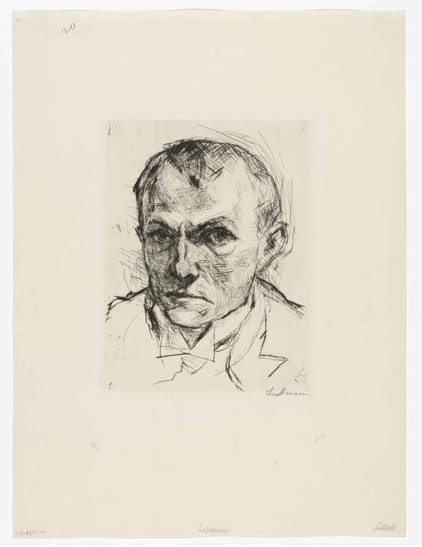 Self Portrait (Selbstbildnis). 1914, published 1918 image