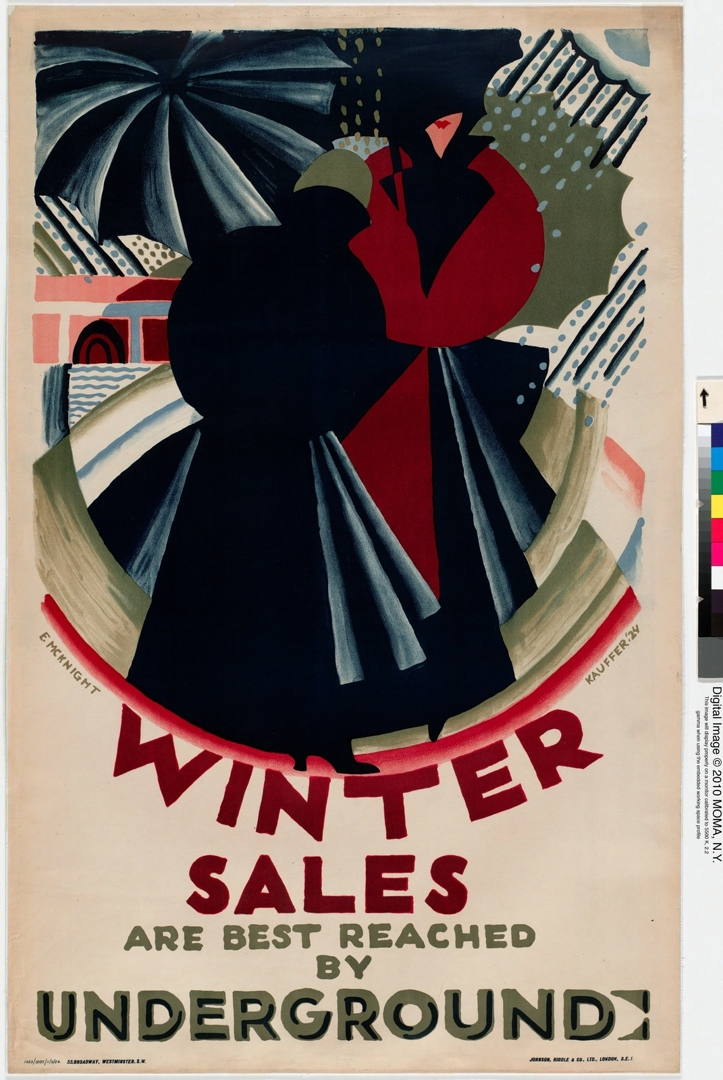 Winter Sales Are Best Reached by Underground. 1924 image
