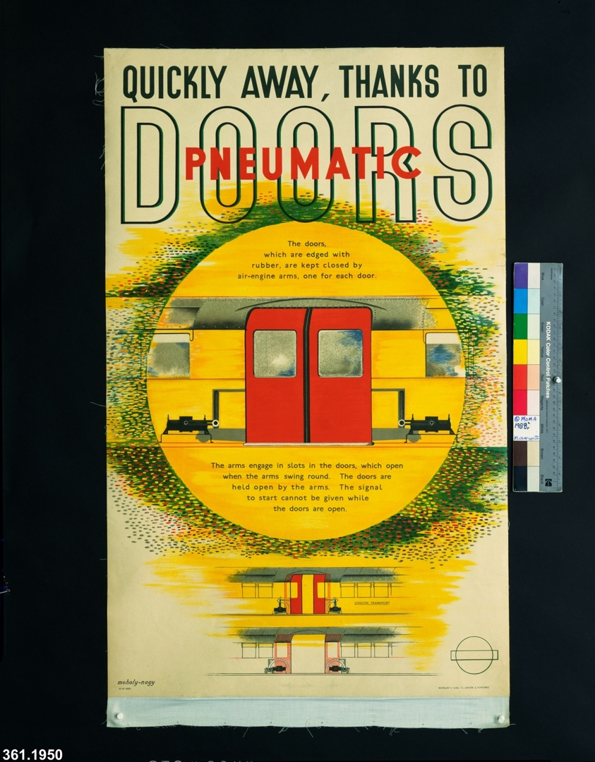 Quickly Away, Thanks To Pneumatic Doors. 1937 image