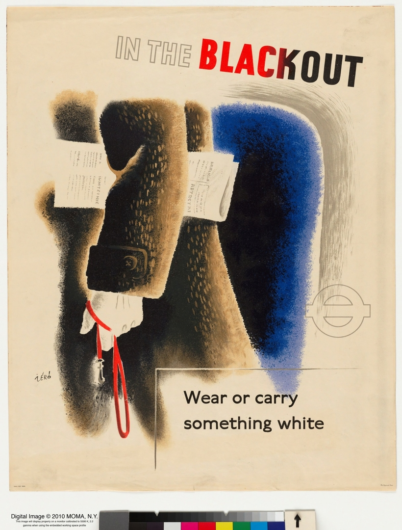 In The Blackout, Wear or Carry Something White. 1943. image