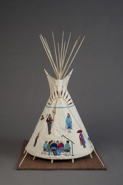 Twenty-first Century Traditional: Beaded Tipi, 2010 image