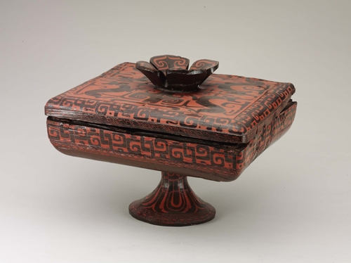 Lacquered dou vessel with cover image