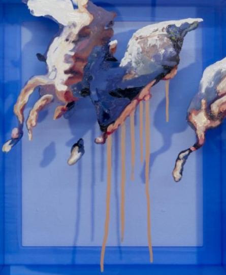 Blue Shift; Trafalgar Space Painting  2011 image