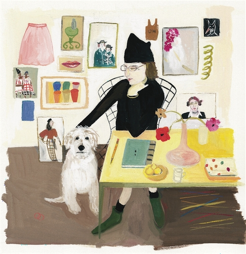 Maira Kalman, Self-portrait (with Pete), 2004-5 image