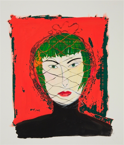 Maira Kalman, Woman with Face Net, 2000 image