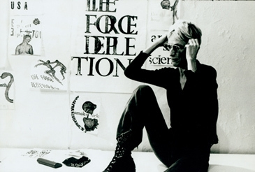Nancy Spero in her Studio, New York 1974  image