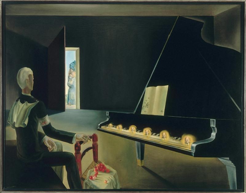 Hallucination partielle. Six images de Lénine sur un piano ('Partial hallucination: six images of Lenin on the piano') 1931 image