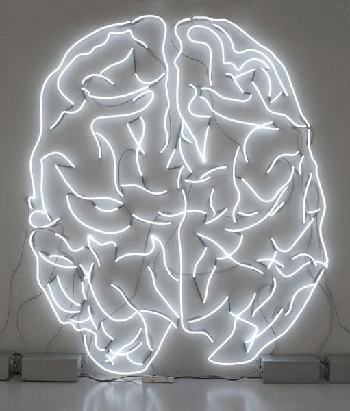 White neon image