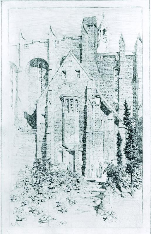 Exterior, St. Brigid's Church, Red Hill 1916 image
