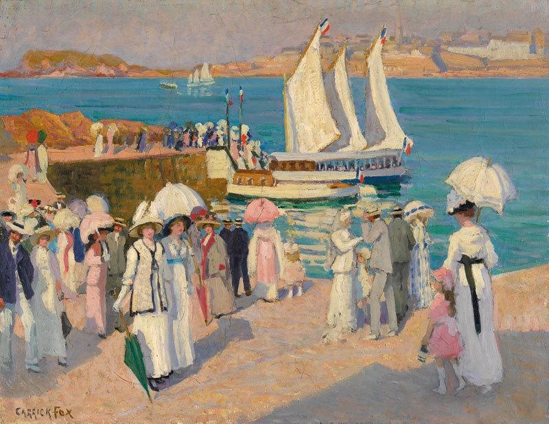The quay at Dinard c.1911 image