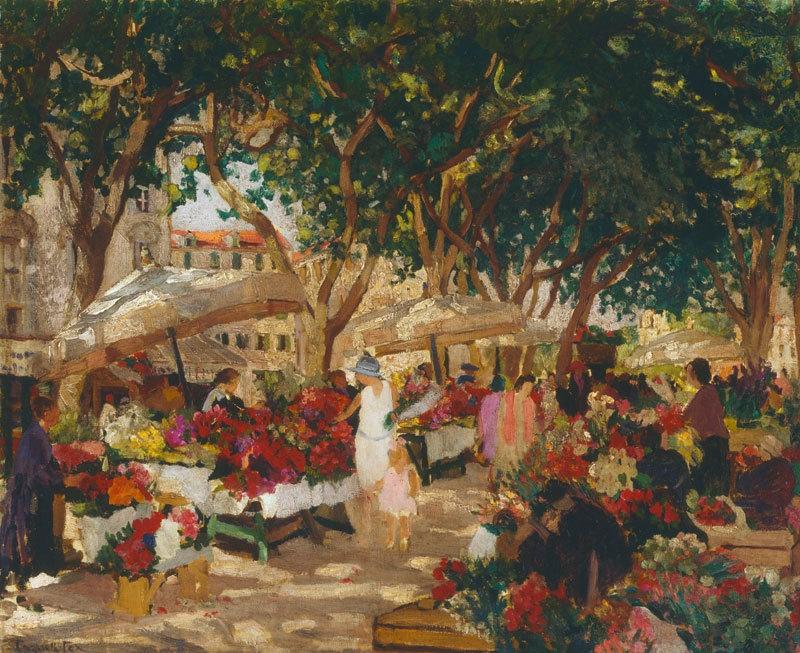 Flower market, Nice c.1925 image