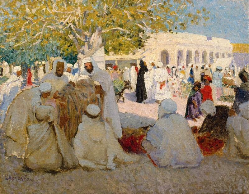Arabs bargaining 1911 image