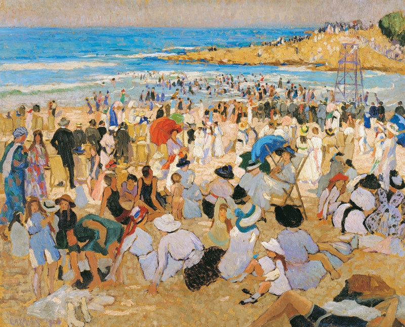 Manly Beach – summer is here 1913 image
