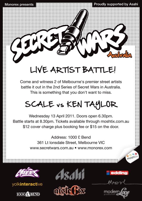 Secret Wars Australia Melbourne Grand Final image