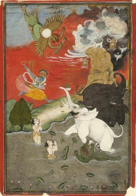 Vishnu Saving the Elephant (Gajendra Moksha) image