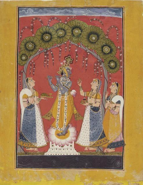Krishna Fluting for the Gopis image