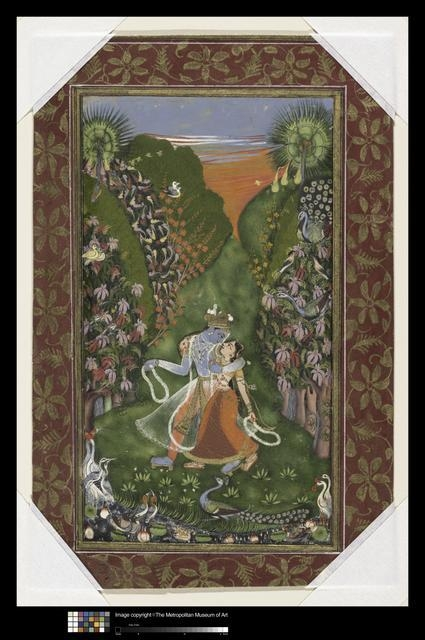 Krishna and Radha in a Grove, circa 1720 image