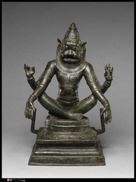 Yoga-Narasimha, 12th century image