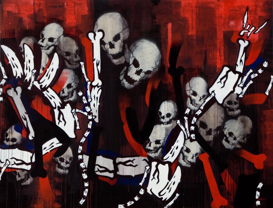 Artist: DLUX!. Title: dlux boneyard, 2005 image