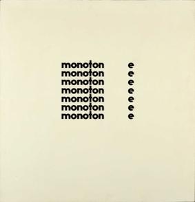 Artist: Alex Selenitsch. Title: monoton eeeeeee  1969 image