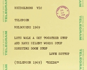 Artist: Sweeney Reed. Title: Telepoem  1969–75 image