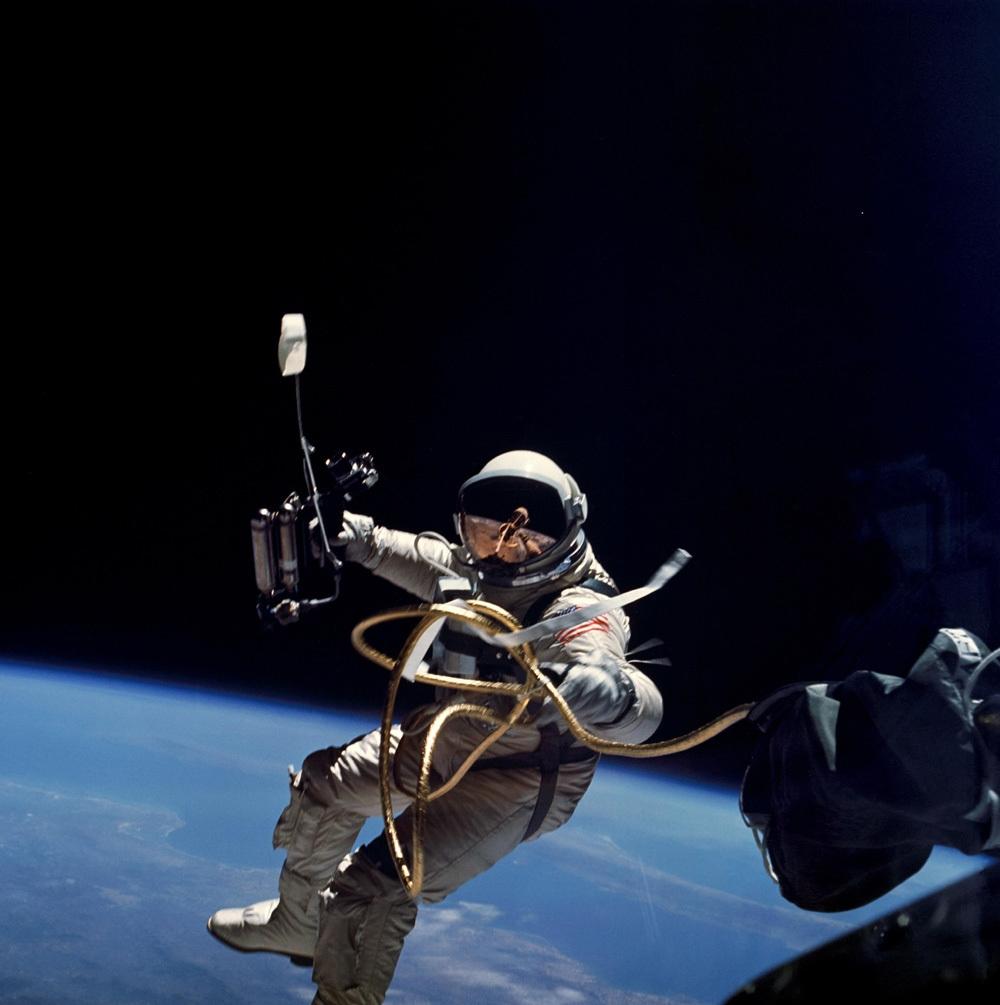 NASA image Alexei Leonov spacewalk image
