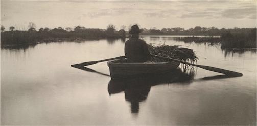 Rowing home the schoof-stuff (1886) image