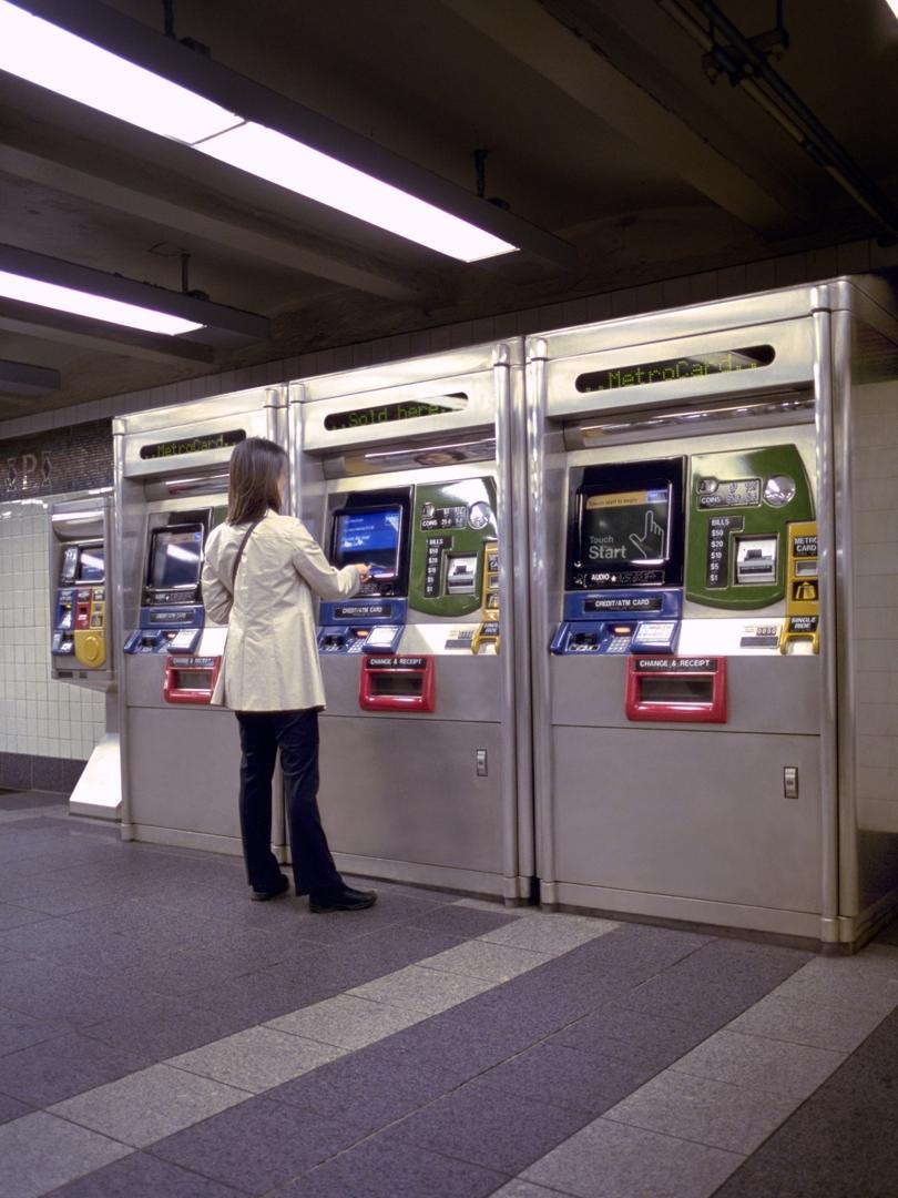 MetroCard vending machine. 1999 image