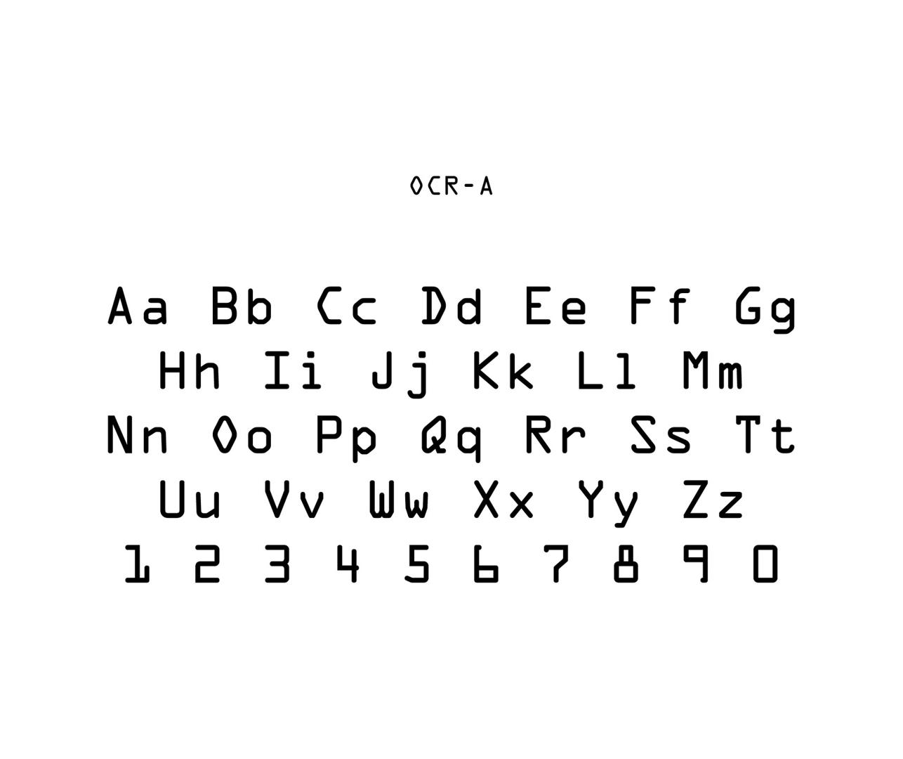 OCR-A 1966 image