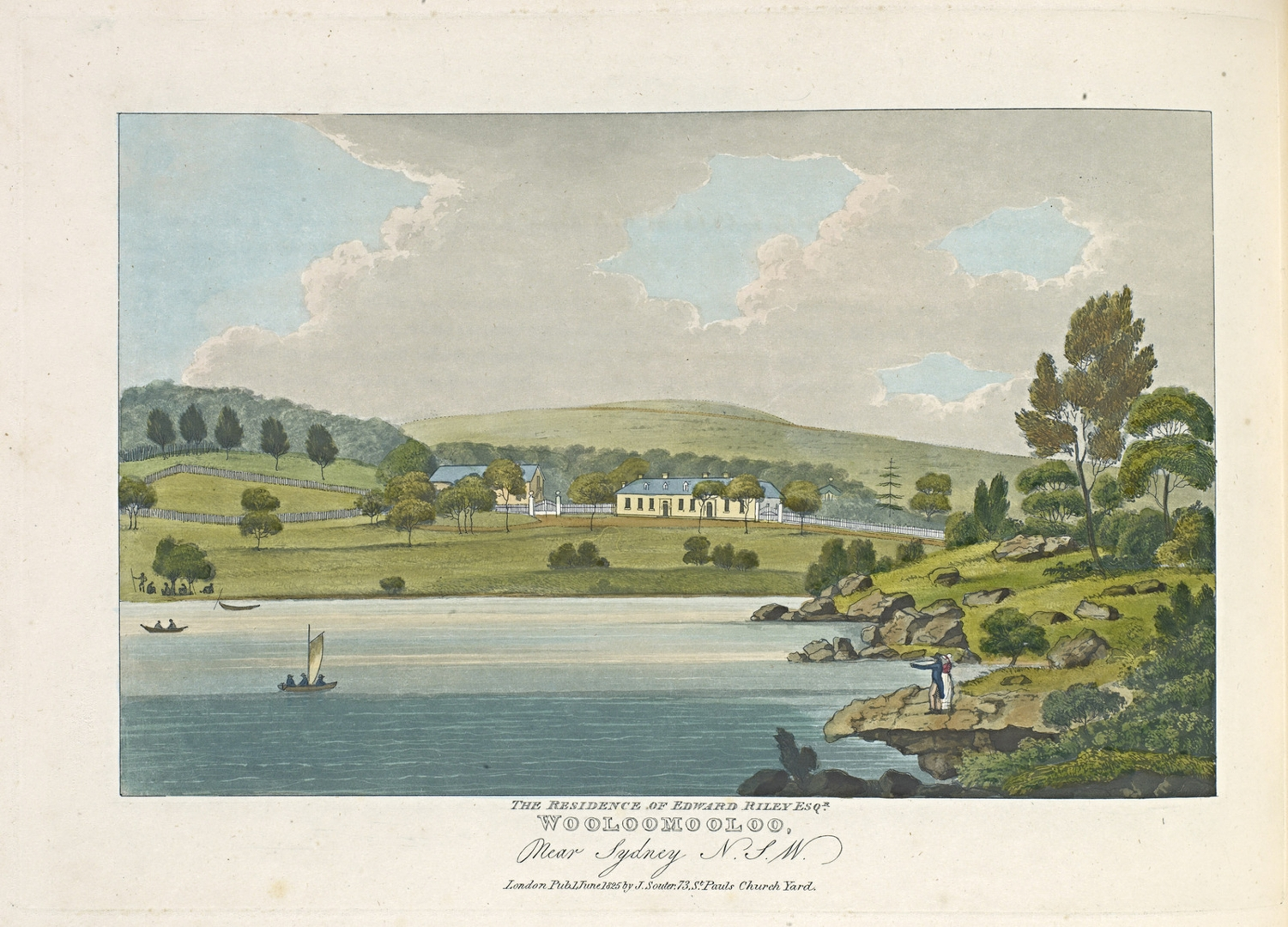 View of the Heads, at the entrance to Port Jackson, New South Wales image