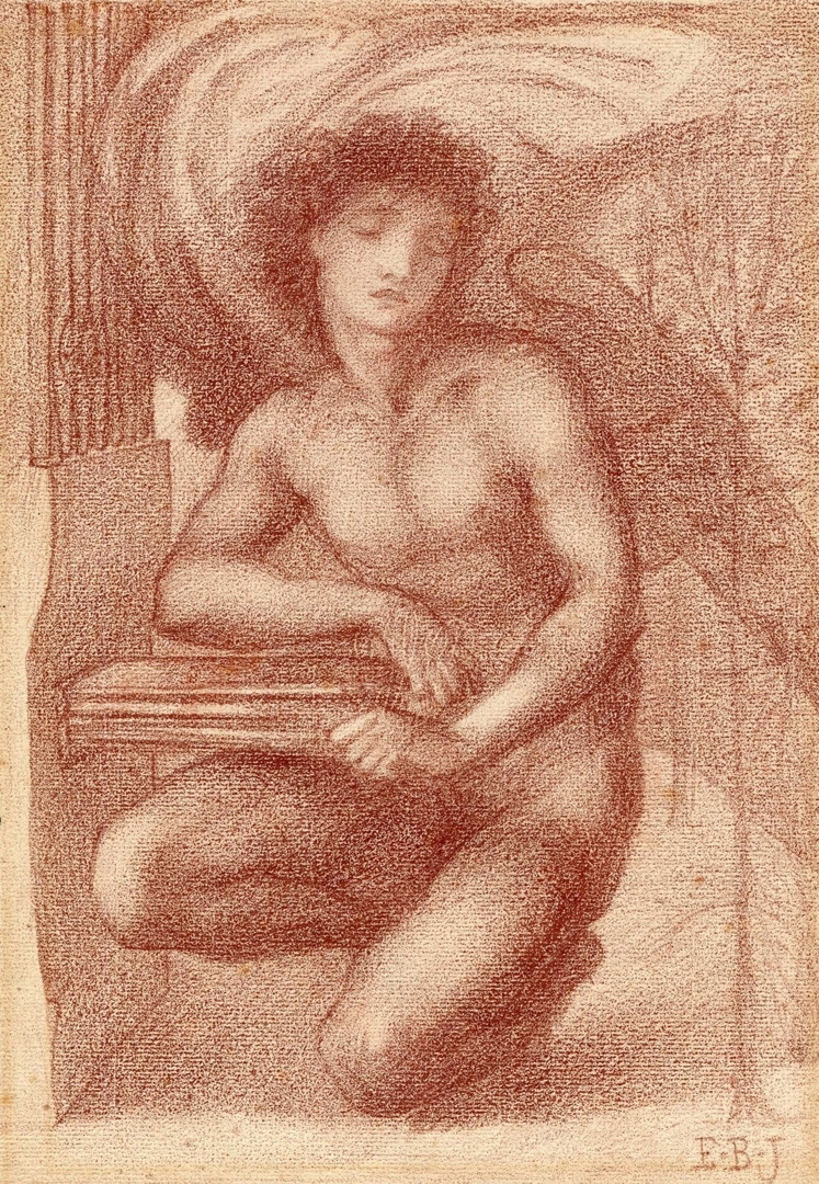 Study of a seraph for 'Le Chant d'Amour' 1868 image